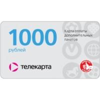 Виртуальная карта оплаты дополнительного пакета (универсальная). Номинал 1000 руб.